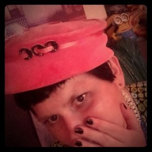 Vintage pink Eva Mae hat
